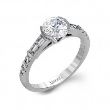 Simon G. 18k White Gold Diamond Engagement Ring - TR596