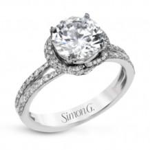 Simon G. 18k White Gold Diamond Engagement Ring - LP2361