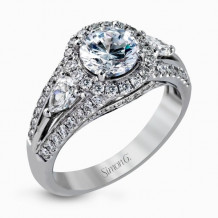 Simon G. 18k White Gold Diamond Engagement Ring - MR1506