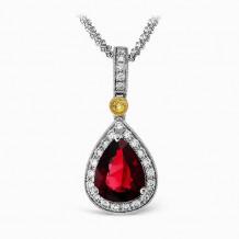 Simon G. 18k White Gold Diamond Pendant - MP1299