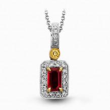 Simon G. 18k White Gold Diamond Pendant - MP1300