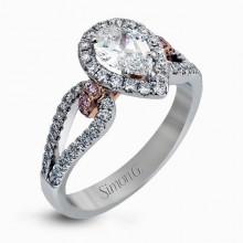 Simon G. 18k White Gold Diamond Engagement Ring - NR467