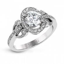 Simon G. 18k White Gold Diamond Engagement Ring - TR650