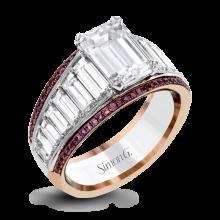 Simon G. 18k White Gold Diamond Engagement Ring - MR2836