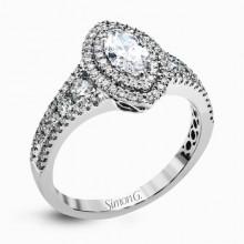 Simon G. 18k White Gold Diamond Engagement Ring - MR2591