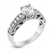 Simon G. 18k White Gold Diamond Engagement Ring - TR634
