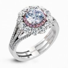 Simon G. 18k White Gold Diamond Engagement Ring - MR2617