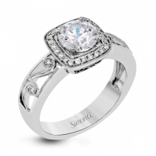 Simon G. 18k White Gold Diamond Engagement Ring - TR627