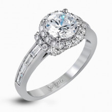 Simon G. 18k White Gold Diamond Engagement Ring - TR593