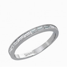 Simon G. 18k White Gold Diamond Wedding Band - TR595