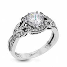 Simon G. 18k White Gold Diamond Engagement Ring - TR629