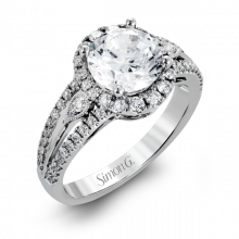 Simon G. 18k White Gold Diamond Engagement Ring - TR586
