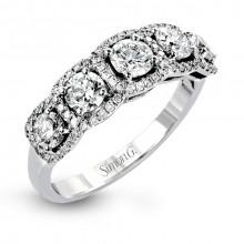 Simon G. 18k White Gold Diamond Wedding Band - MR2630